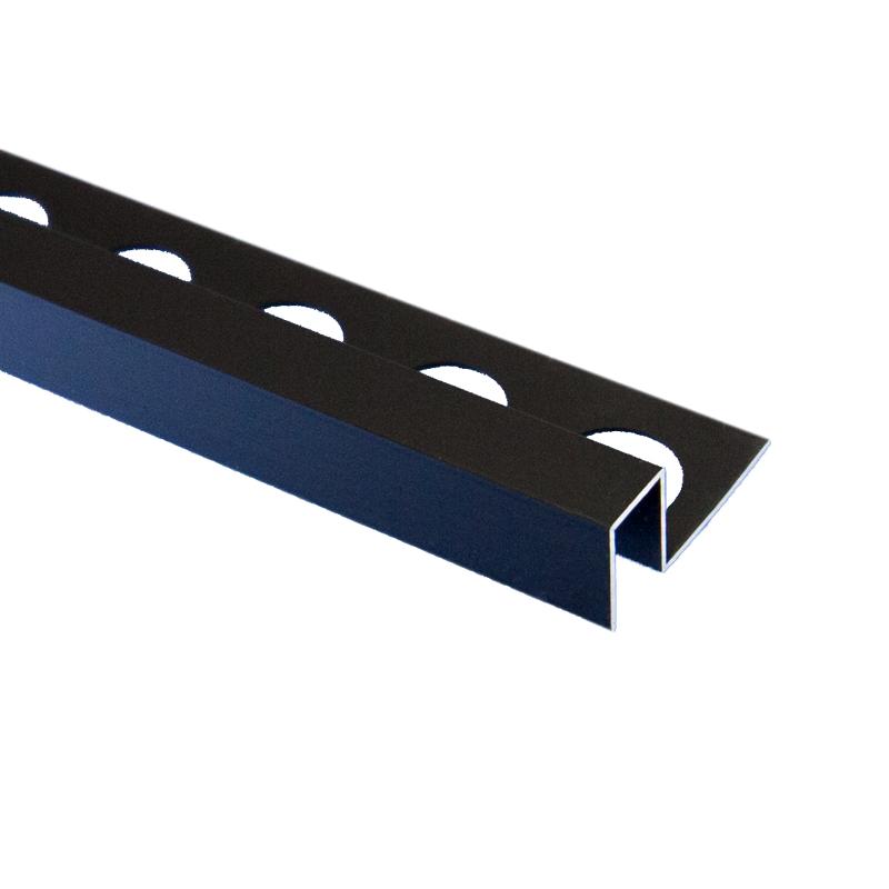 Trade Metal Square Edge Matt Black Tile Trim 2 5m Length By Pro Tile Trim Buy Trade Tile Trim Online Premium Tile Trim