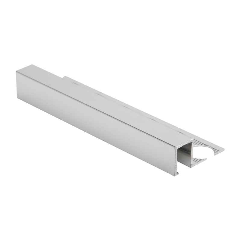 Polished Silver Square Edge Tile Trim by PREMTOOL