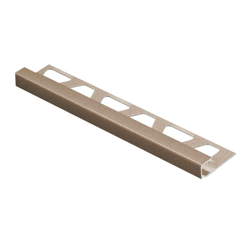 Square Edge TRENDLINE QUADEC-TSB Textured Natural Beige Aluminium 2.5m By Schluter
