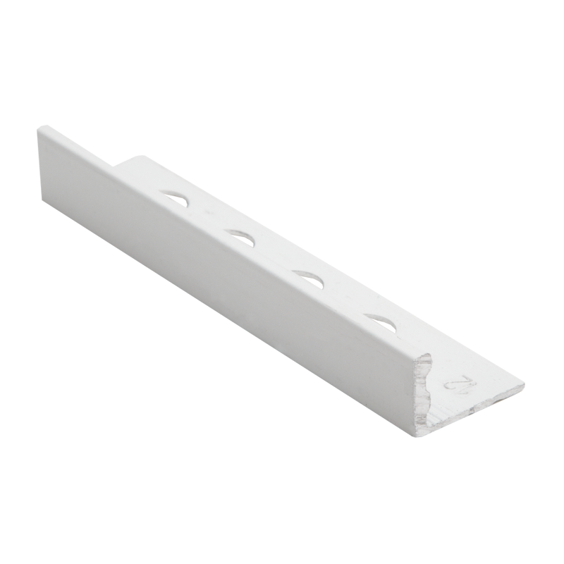 Straight Edge Powder Coated White Tile Trim ESA by Genesis